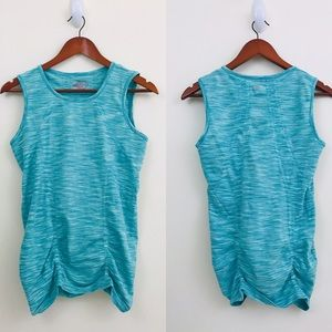 Athleta space dye ruched tank top Fastest Track L